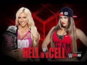Hell In A Cell - Nikki Bella vs Charlotte Divas Title