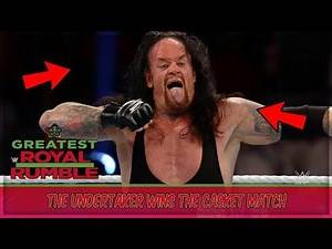 The Undertaker Vs Rusev Casket Match   Undertaker Buried Rusev (WWE Greatest Royal Rumble Results)