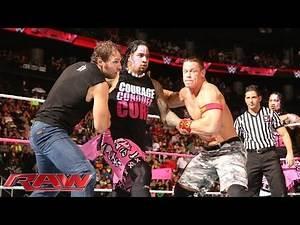 John Cena & Dean Ambrose vs. The Usos vs. Gold & Stardust - Triple Threat Tag Team Match