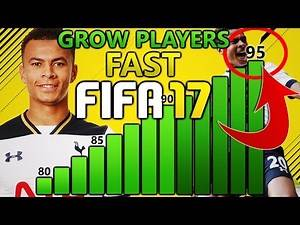 HOW TO GROW PLAYERS FAST ON FIFA 17 CAREER MODE! | FIFA 17 TIPS AND TRICKS!