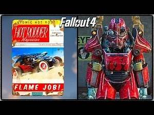 """Fallout 4 - """"HOT ROD FLAMES"""" POWER ARMOR PAINT 1 Easy Location for Free Power Armor!"""