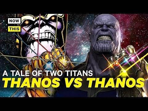 Movie Thanos vs. Comic Thanos: A Tale of Two Titans | NowThis Nerd