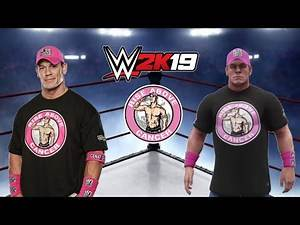 WWE 2K19 John Cena rise above cancer 2012 attire tutorial