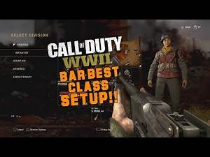 Call of Duty WW2 - BAR Best Class Setup!! (COD:WW2 Strategies & Tips!)