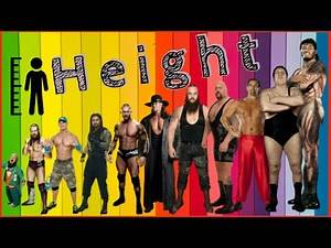 Top 15 Tallest Wrestlers of All Time - Giant Wrestlers | | WWE Wrestlers Height Comparison Chart
