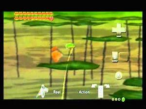 Catching a Hylian Loach in Legend of Zelda: Twilight Princess