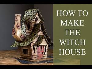 How to DIY the witch house from cardboard!