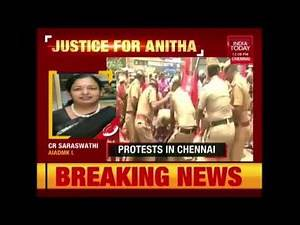 Massive Protest In Support Of Anitha Against The NEET Exam