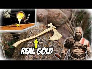 Casting GOLD AXE - Kratos Leviathen Axe God Of War