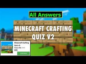Minecraft Crafting Quiz v2 answers   5 Robux   All 30 Questions   QuizDiva