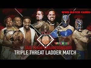 WWE TLC 2015: Triple Threat Tag Team Ladder Match Official Match Card