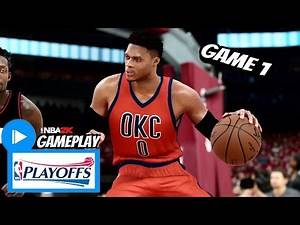 Russell Westbrook Full Highlights vs Rockets (2017 Playoffs First Round Game 1) NBA 2K17