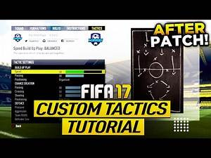 FIFA 17 AFTER PATCH - THE BEST TIKI TAKA (MIDDLE PLAY) CUSTOM TACTICS - BEST DEFENSE & BEST ATTACK