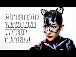 Catwoman Comic Style (Cel Shade) Halloween Makeup Tutorial