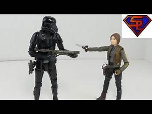 """Rogue One Star Wars Black Series Jyn Erso & Imperial Death Trooper 6"""" Movie Figures Review"""