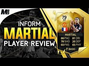 FIFA 16 IF MARTIAL REVIEW (79) FIFA 16 Ultimate Team Player Review + In Game Stats