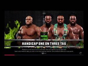 WWE 2K19 Bobby Lashley VS Big E,Kofi Kingston,Xavier Woods 1 VS 3 Handicap Elimination Tag Match