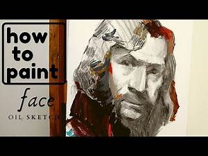 Harry Potter How to paint a face, oil sketch Sirius Black, Gary Oldman #33
