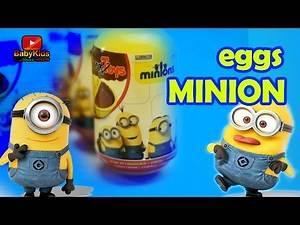 Opening Kinder Eggs - Minions Remix - Minion Egg - Minion Banana - Surprise Eggs