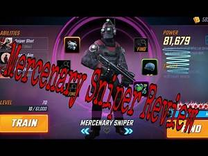 Marvel Strike Force- Mercenary Sniper review...A tale of two toons, the computer vs your toon.