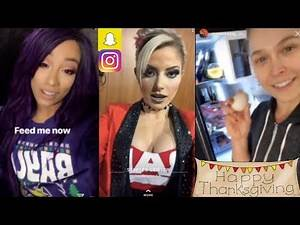 WWE ThanksGiving ft. Alexa Bliss, Ronda Rousey, Sasha Banks, Samoa Joe, Naomi n MORE