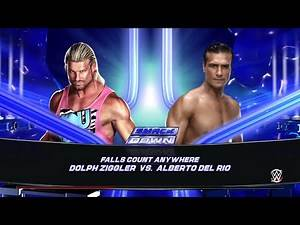 WWE 2K15- Dolph Ziggler vs Alberto Del Rio Fall Count anywhere Match 2015 (PS4)