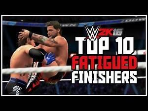 WWE 2K16 - Top 10 Fatigued Finishers! (WWE 2K16 Tired Finishers)