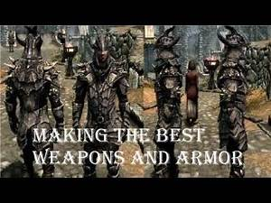 Skyrim - How To Make The Best Weapons & Armor (Xbox 360)