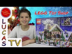 LEGO Winter Toy Shop Unboxing and Time Lapse Build Christmas 2016 Part 1