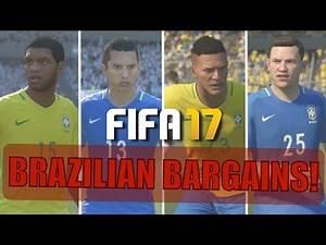 TOP 20 BRAZILIAN BARGAINS | FIFA 17 Career Mode