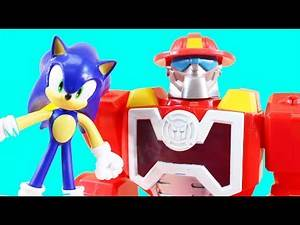 Sonic The Hedgehog Super Sonic Helps Imaginext Batman | The Joker & Rescue Bot Robot Superhero Toy