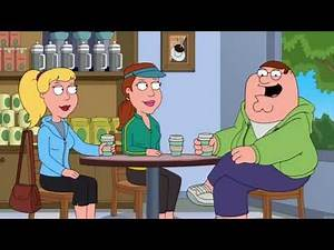 (Family guy)Peter kicks Angela in the balls