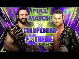 DREW MCINTYRE VS DOLPH ZIGGLER WWE WORLD CHAMPIONSHIP MATCH EXTREME RULES 2020 FULL MATCH!