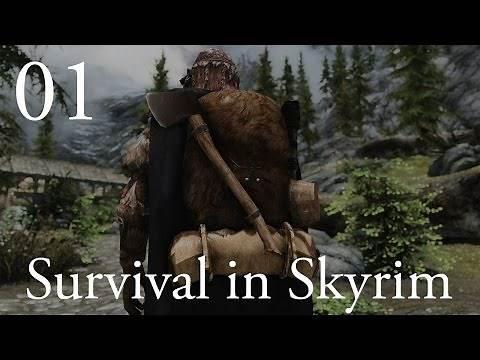 "Survival in Skyrim (Hardcore Modded Skyrim): Ep 1 - ""Shipwrecked!"""