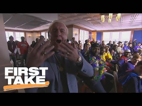 Ric Flair Surprises First Take Crew On Set In New Orleans   First Take   February 17, 2017