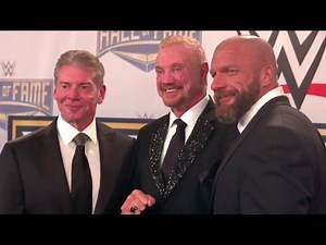 The 2017 WWE Hall of Fame Class receive their rings from Vince McMahon and Triple H: Mar. 31, 2017