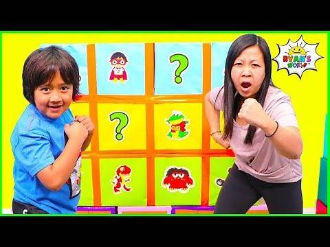 Smash Box Surprise Minute to Win it games with Ryan's World!!!
