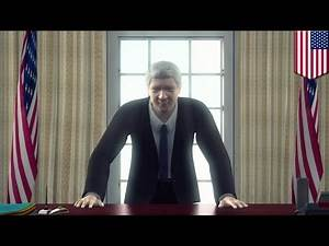 House of Cards Knock: Bill Clinton does Frank Underwood / Kevin Spacey Season 2 final scene