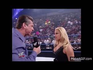 In trouble with the boss Trish Stratus, Vince McMahon, & The Rock