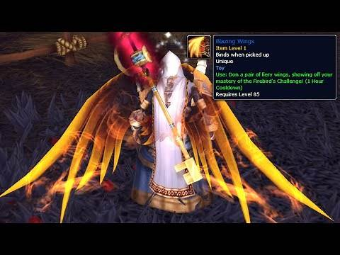 How to get Blazing Wings (Fiery Wings on your Back) - WoW 6.0