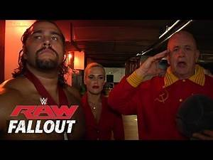 Nikolai Volkoff joins Rusev & Lana - Raw Fallout - Sept. 8, 2014