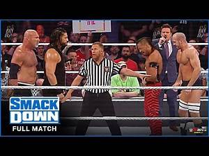 Roman Reigns & Goldberg vs. Cesaro & Shinsuke Nakamura : Smackdown, September 8, 2020