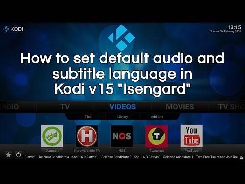Setting default audio and subtitle language in Kodi v15