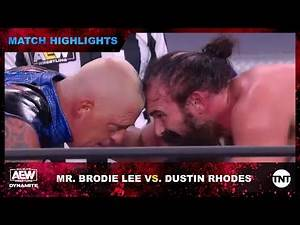 TNT Championship Match Between Mr. Brodie Lee and Dustin Rhodes on AEW Dynamite