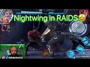 Injustice 2 mobile Nightwing in raids 💀