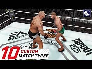 WWE 2K18 Top 10 New Custom Match Types #2 (feat. Conor Mcgregor and UFC)