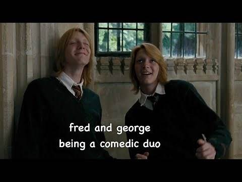 fred and george being a comedic duo