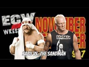 Sabu vs. The Sandman (Tables & Ladders Match)