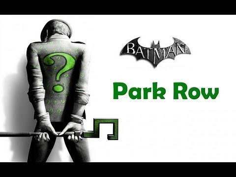 """Batman Arkham City"", ALL Riddler's challenges (trophy/secret/riddle) - Park Row"