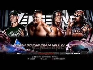 WWE '13: John Cena & Brock Lesnar Vs. Bret Hart & Dude Love (Tag Team Hell In The Cell)